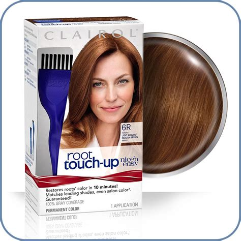 clairol light reddish brown hair dye amazon com clairol nice n easy root touch up 006r light