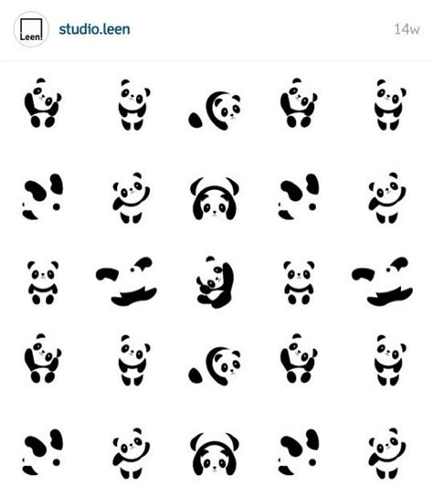 panda tattoo template panda studio leen panda pinterest tatouages id 233 es