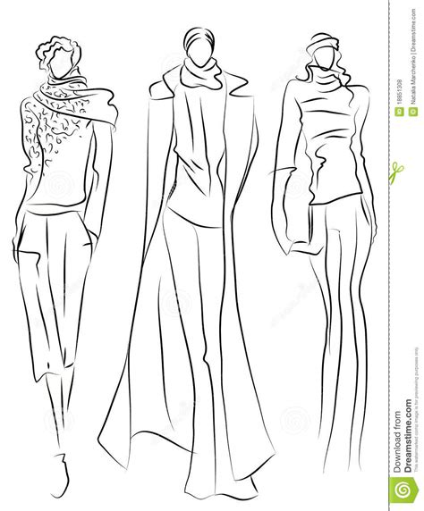Sketch Of Fashion Suits Royalty Free Stock Photos Image Coloriage Mannequin CoutureL