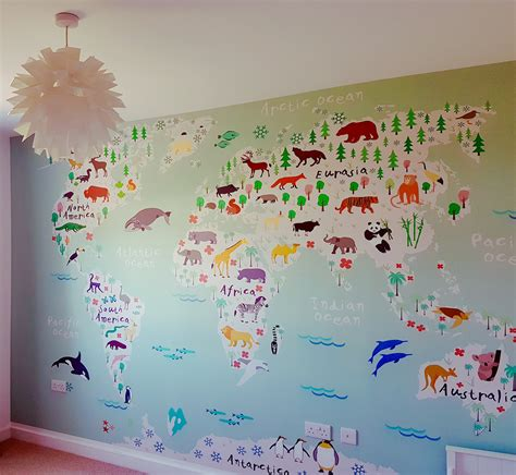 Safari Map Mural Wallpaper Muralswallpaper - green d 233 cor painters decorators wallpaperhangers