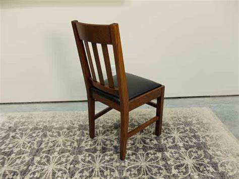 Tiger Oak Dining Chairs Mission Solid Tiger Oak Slat Back Dining Chairs