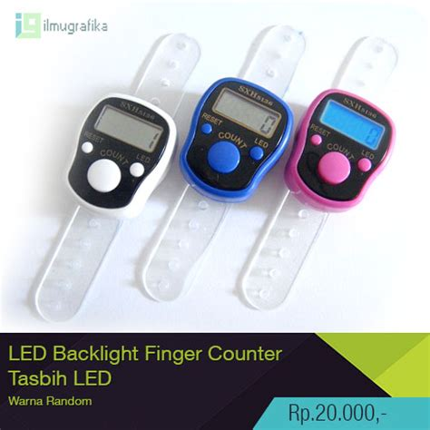Tasbih Digital With Led jual tasbih digital led finger counter tasbih jari