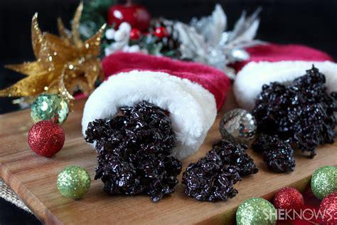 Coal Rice Krispy Cookies coal