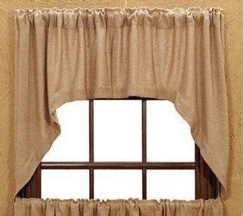 burlap swag curtains burlap natural swag curtains primitive star quilt shop