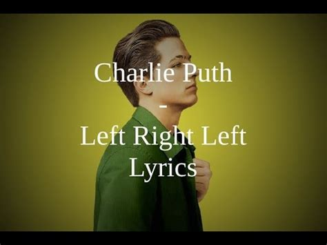 charlie puth left right left charlie puth left right left lyrics youtube