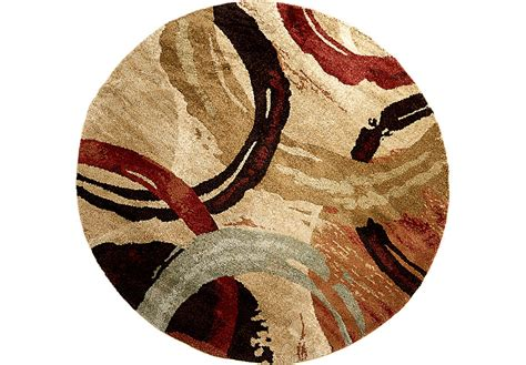 Vacuuming Mattress by Faded Dream Brown Multi 8 Round Rug Rugs Brown