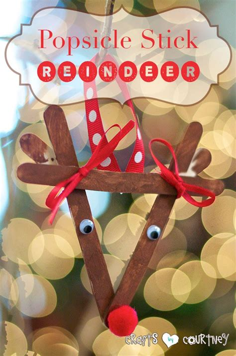 childrenss reindeer christmas crafts images make a popsicle stick reindeer ornament with your
