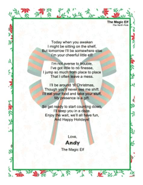 printable magic elf letters greeting letter magic elf