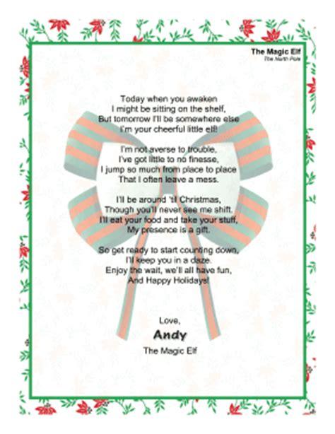 free printable magic elf letter greeting letter magic elf