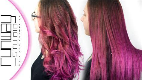 runway hair color pink balayage ombre hair color runway studio