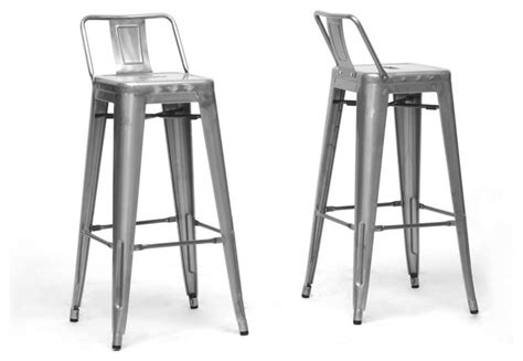 bar stools with back support french industrial modern bar stool gunmetal with back