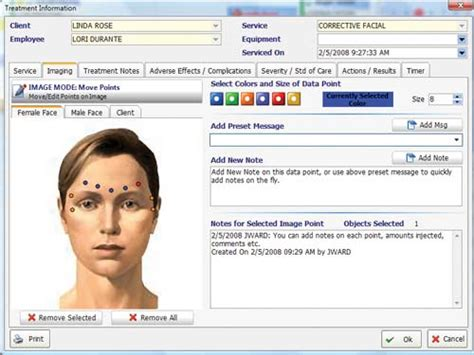 Envision Tanning Salon Software Feature List Botox Treatment Record Template