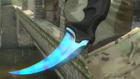 case hardened pattern blue gem karambit case hardened 99 blue backside showcase youtube