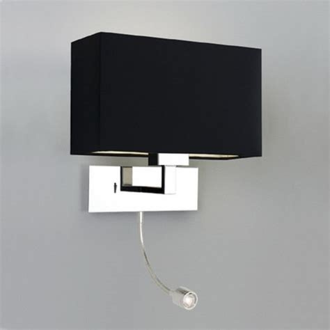 hotel bedroom wall lights modern hotel style bedside wall light with integral led reading light