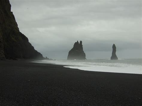 black sand beach iceland black sand beach at vik iceland a stormy day at one of