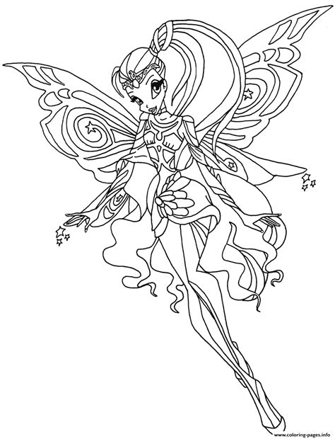 bloomix stella winx club coloring pages printable