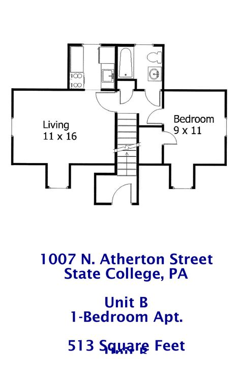 One Bedroom Apartments State College Pa | 1007 n atherton street 1 bedroom student apartment