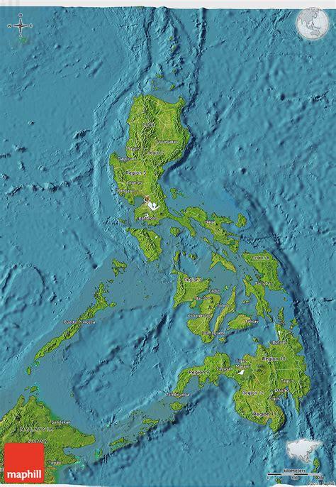map philippines satellite satellite 3d map of philippines