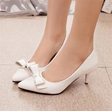 an heels 5cm free shipping low heels bow shoes 5cm pumps for