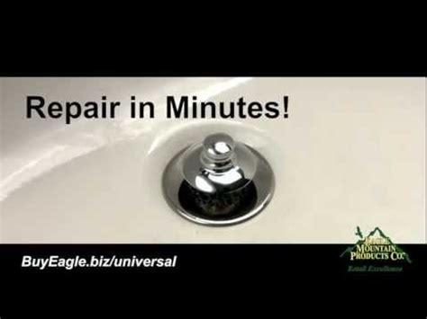 how to repair bathroom stopper tub drain flange repair youtube
