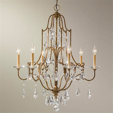 Vintage Bronze And Crystal Foyer Chandelier Beautiful Foyer Chandeliers