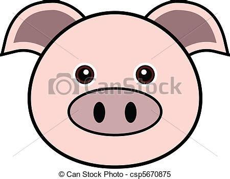vecteur clipart mignon vecteur cochon cute animal faces dans csp5670875