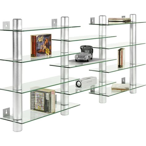 Wall Cd Shelf by Design Glass Aluminum Cd Dvd Wall Shelf For 300 Cds Ebay