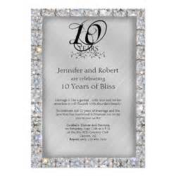 10th tin and wedding anniversary announcements zazzle