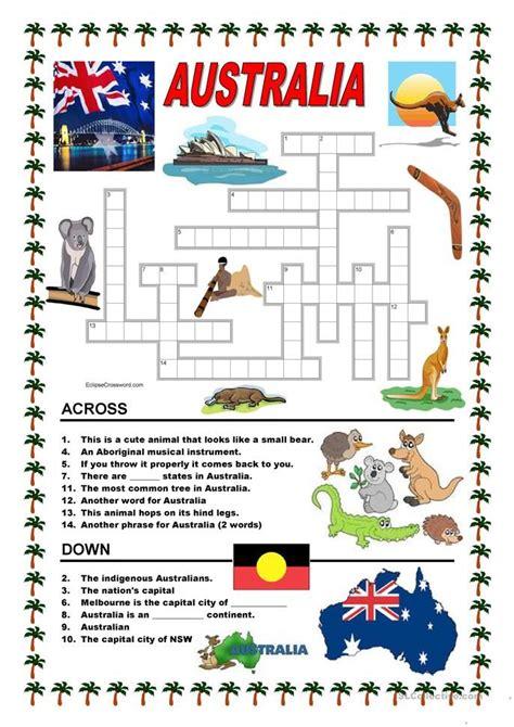 australia crossword 1 australia