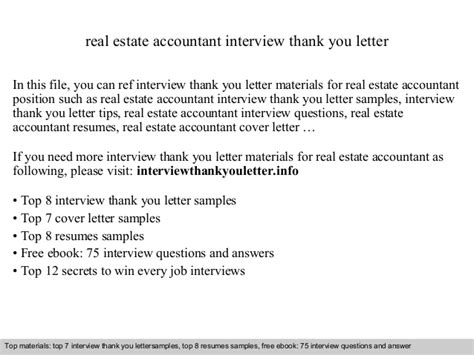 thank you letter after bookkeeper real estate accountant