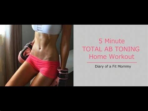 5 minute home ab workout with 5 exercises to get