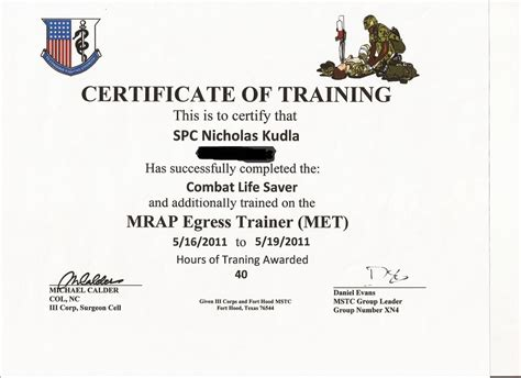 18 images of army drivers training certificate template