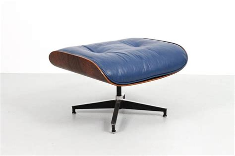 blue leather chair and ottoman blue leather eames lounge chair and ottoman at 1stdibs