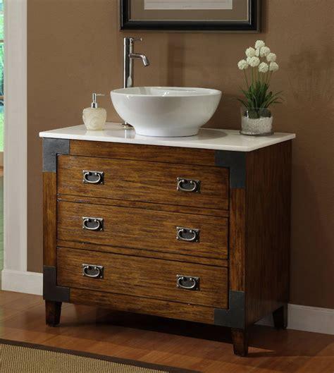 Adelina 36 inch All Wood Construction Vessel Sink Bathroom