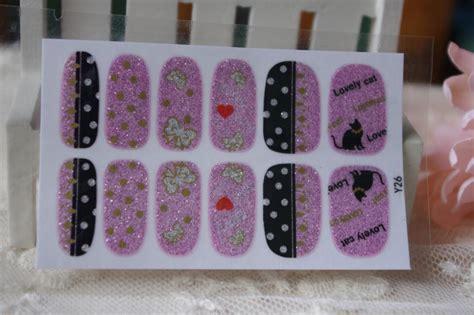 Nail Sticker Minx Nail 3 minx self made nail sticker cat letters manicure styling tools glitter 3d design nail