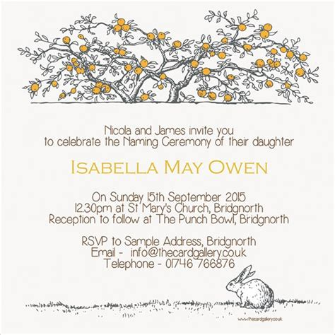 naming ceremony invitation template sle naming ceremony invitation template 15 documents