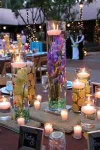 How beautiful are these floating candle centerpieces with flower