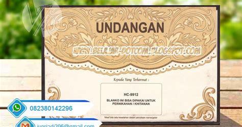 Undangan Pernikahan Dan Khitanan Erba Hc 9912 surat undangan pernikahan erba semi cover hc 9912 kumpulan tutorial