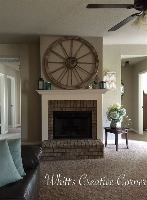 wagon wheel decor  love     fireplace