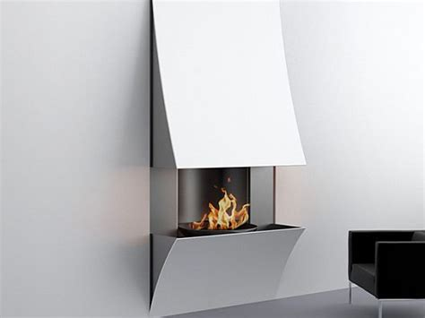 minimalist fireplace minimalist curv fireplaces by julien bergignat