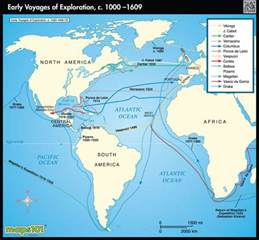 interactive map exploration of america world exploration map early voyages by maps from maps