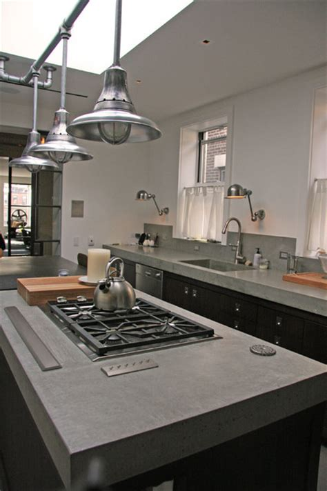 Modern Kitchen Concrete Countertops by Concrete Kitchen Countertop