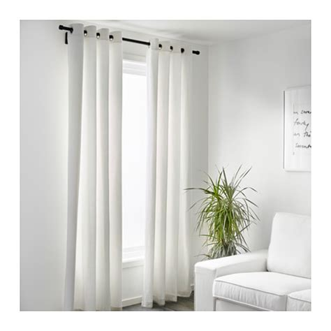 White Curtains Ikea Merete Curtains 1 Pair White 145x300 Cm Ikea