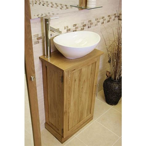 Slimline Vanity by Atla Slimline Compact Oak Bathroom Vanity Unit Click Oak