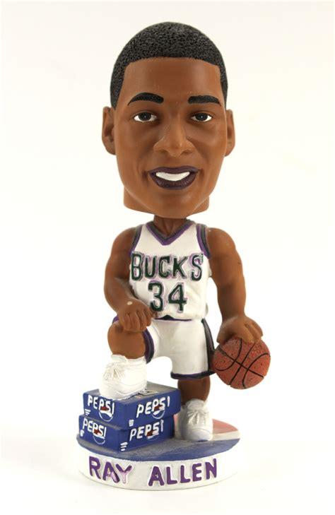 Milwaukee Bucks Giveaways - lot detail 2002 ray allen milwaukee bucks bobblehead nodder fan giveaway