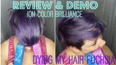 which hair color is better ion hair color or age beautiful review demo ion color brilliance in fuchsia dying my