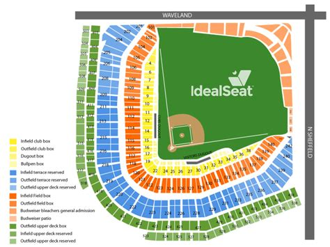 cubs seat chart wrigley seating chart chicago cubs tickets wrigley field