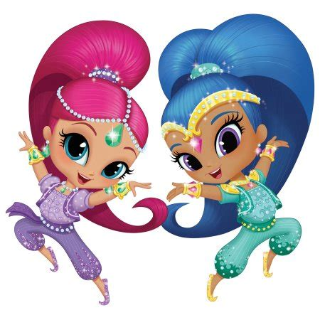 Shimmer and Shine Party Edible Cake Topper Image Frosting