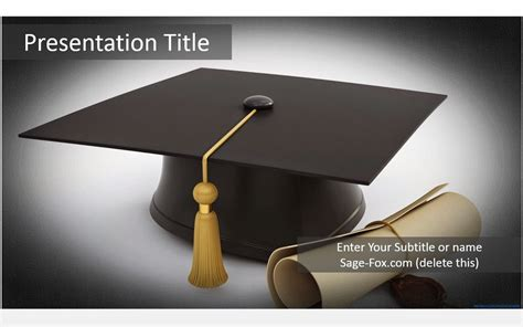 Free Graduation Cap Powerpoint Template 5895 Sagefox Graduation Powerpoint Background