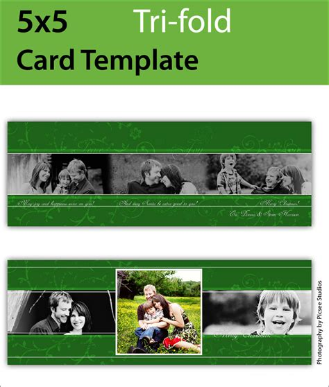 Press Templates Simply Color Lab 5x5 Trifold Card Template